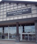 Store front for Banana Republic Factory Store