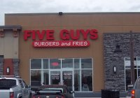 Store front for Five Guys Burgers & Fries