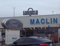 Store front for Maclin Ford