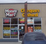 Store front for Money Mart