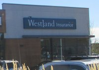 Store front for Westland Insurance
